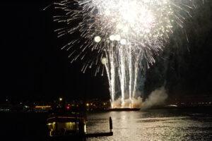 Fireworks over Baltimore Inner Harbor